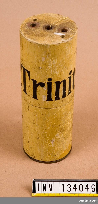 D=74 mm L=200 mm Laddning ämnad för TNT för övning.