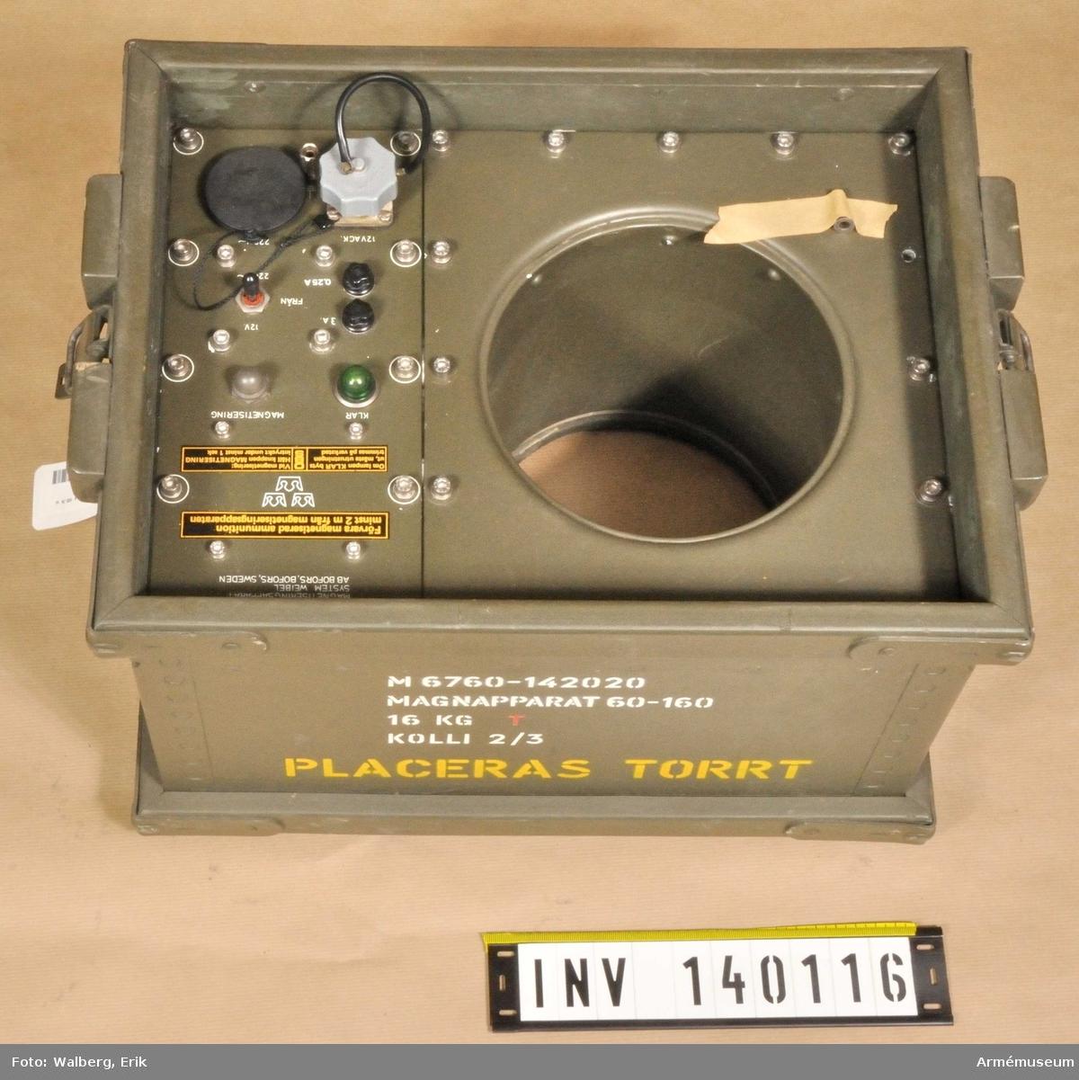 Magnetiseringsapparat t 10,5 cm haubits m/1940C