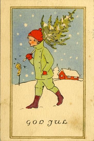 Notering på kortet: God Jul.