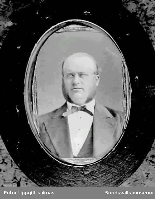 Porträtt på P. A. Åström.
