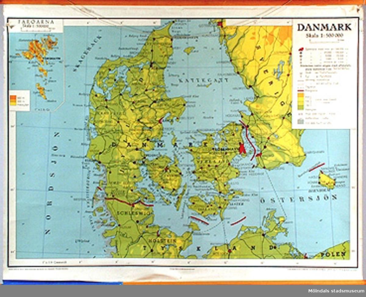 Skolkarta märkt nr 51.Danmark.
