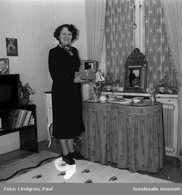 Fru Wilson på  Oskarsgatan.