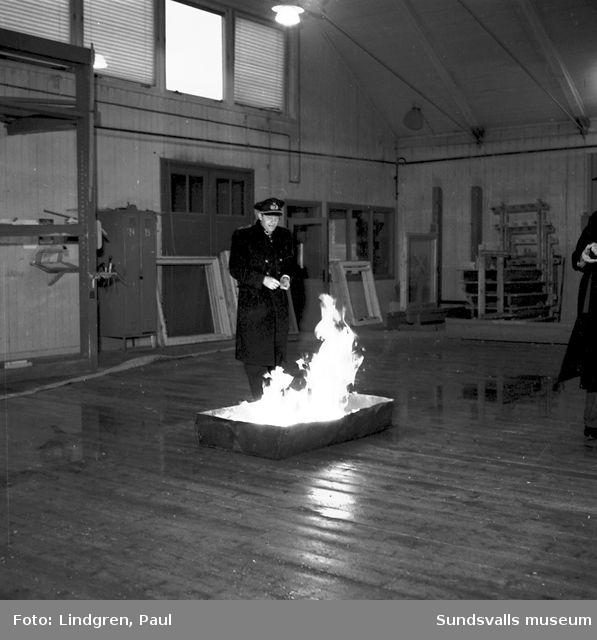 Brandövning Kubikenborg.