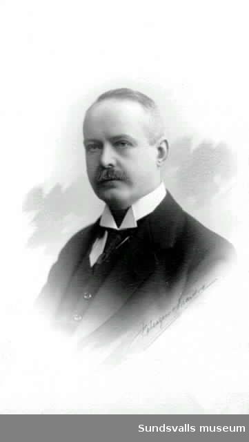Porträtt av apotekare Källberg, Sundsvall