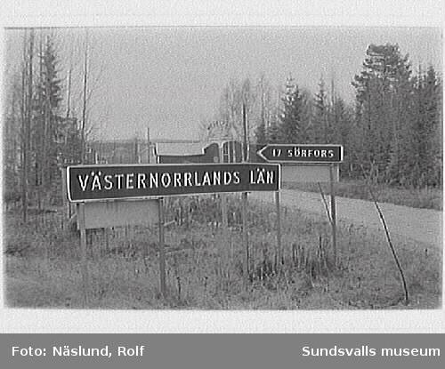 Länsgräns söder om Ortsjön.