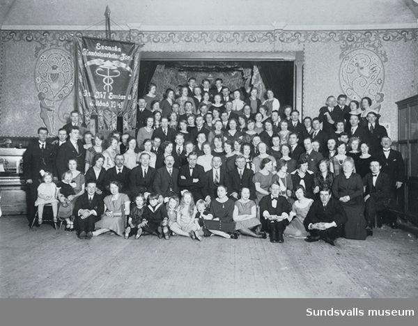 Handelsarbetarförbundets möte på Skönsbergs gamla Folkets Hus.