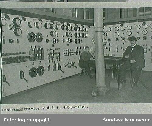 Instrumentpaneler vid M 1, elektricitetsverket.