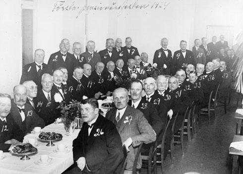 Fest för pensionserade posttjänstemän i grad under postexpeditörer, 1934.