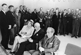 Från invigningen av Huvudkontoret för postverkets diligenstrafik, i Lycksele den 10 juni 1966