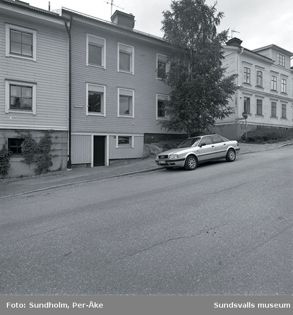 Inventering Stadsmon. Solgatan 7 B (nedre huset), Solgatan 7 A (övre huset).