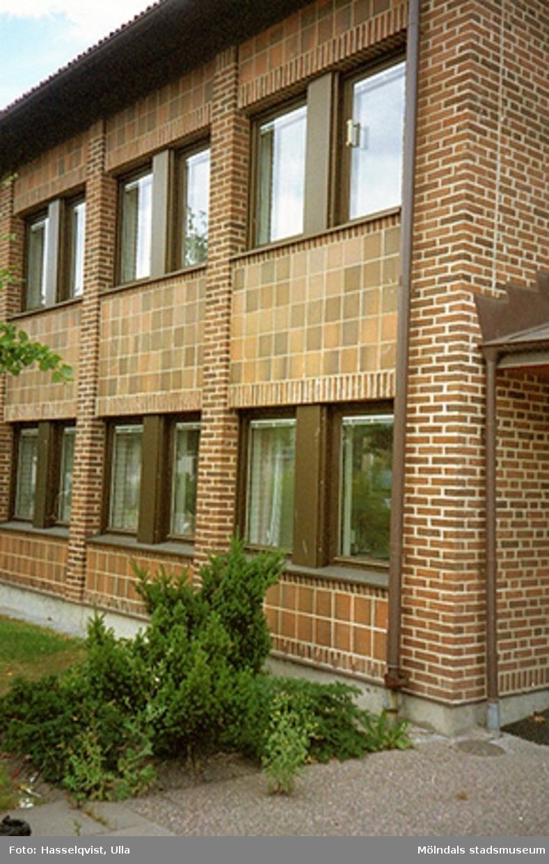 Nya stadshusdelen mot Knarrhögsgatan, augusti 1994.