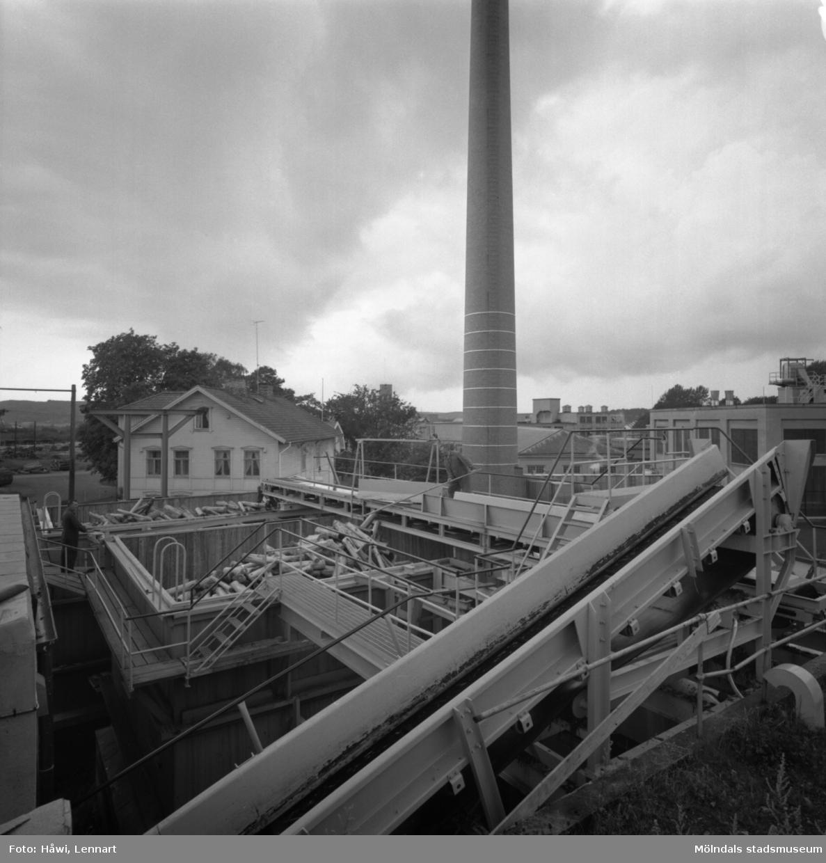 Exteriör av nya renseriet på Papyrus i Mölndal, 10/8 1961.