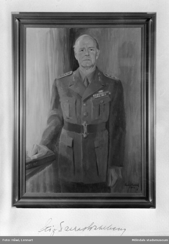 Porträttmålning av överste Stig Tarras-Wahlberg.