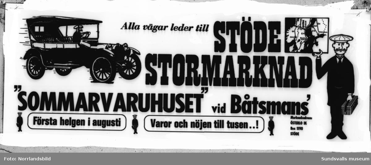 Reproduktioner av affischer från Stöde.