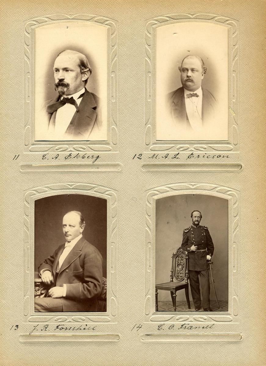 Porträtt av Mauritz Albert Ericson, postmästare i Frövi.
