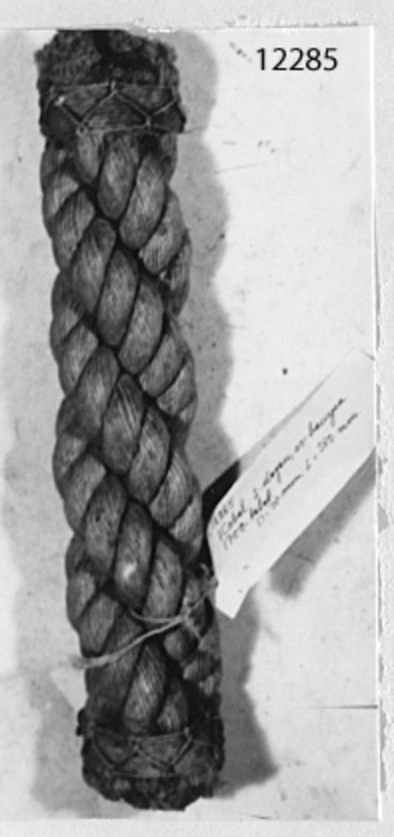 Kabel 3-slagen av hampa