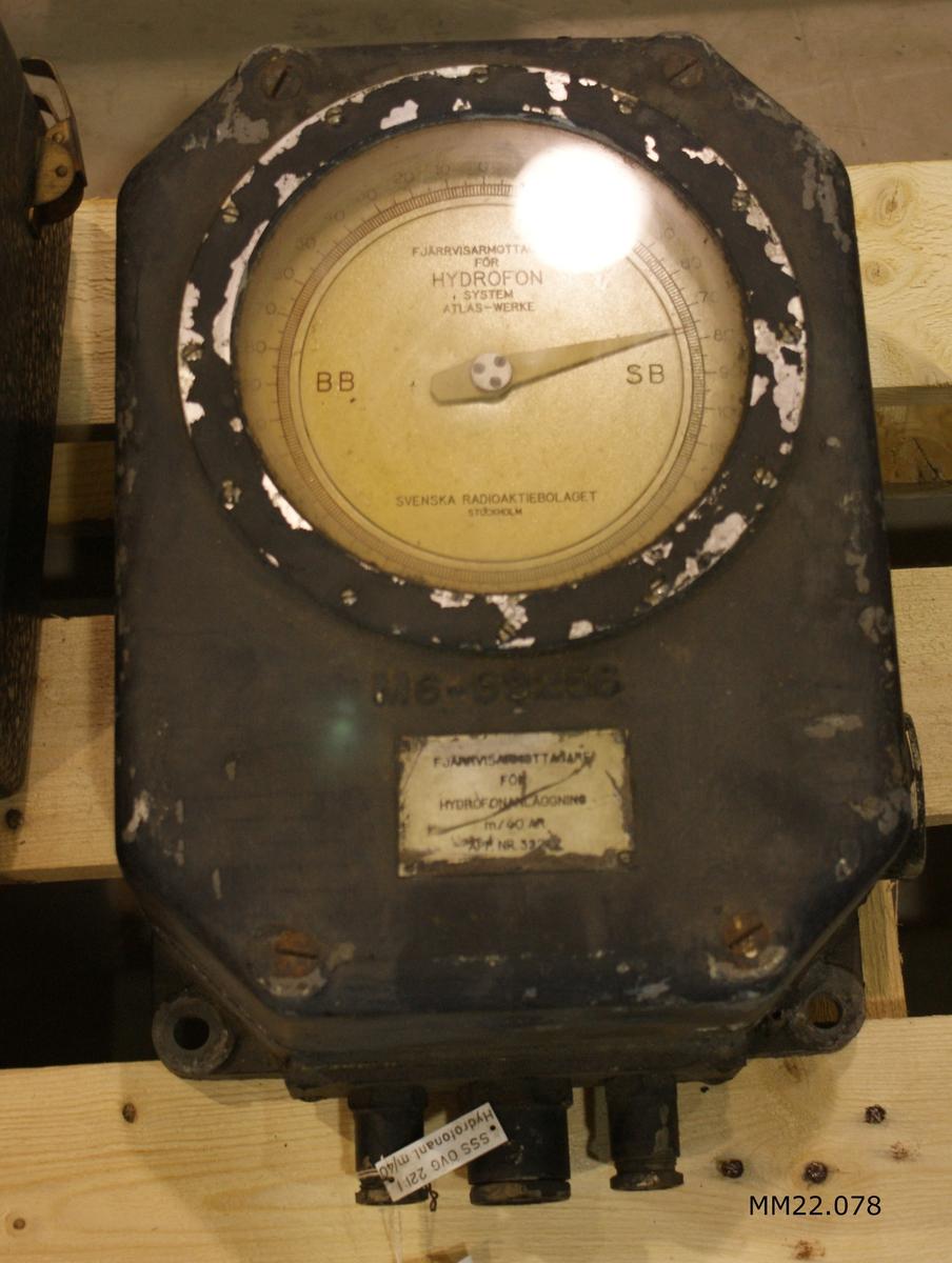Fjärrvisarmottagare till hydrofonanläggning m/40 AR, Atlas-Werke.
