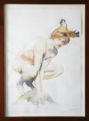 Mats som Gaupegutt [Maleri]