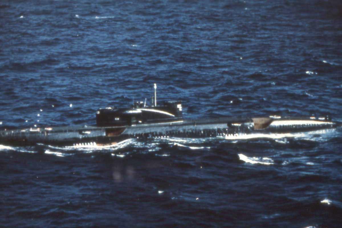Russisk ubåt av Juliett - klassen.