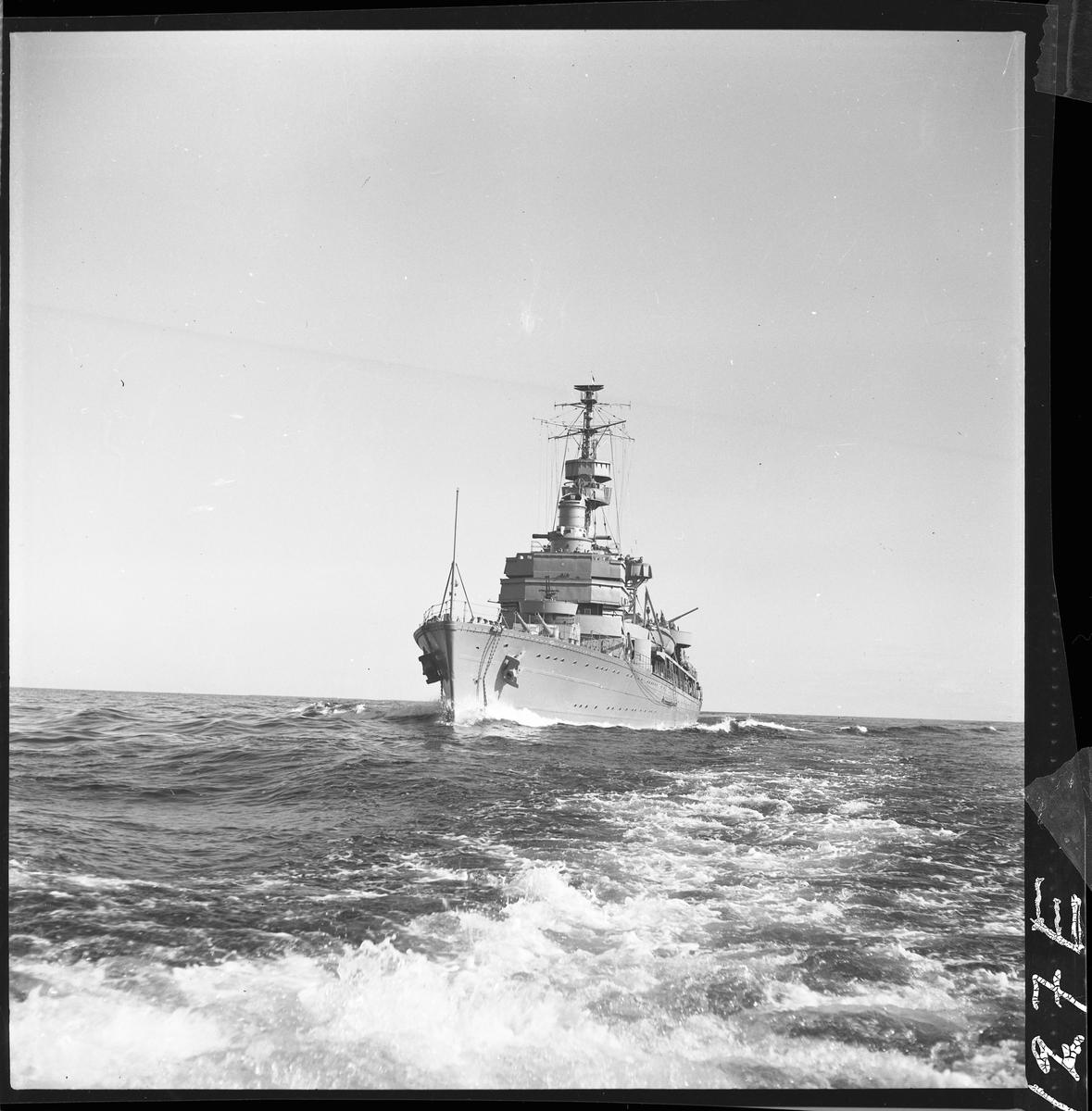 Kryssaren Gotland i juli 1950.