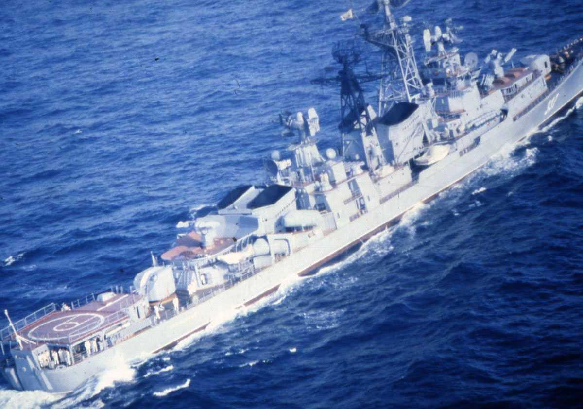Russisk fartøy av Modifisert Kashin - klassen.