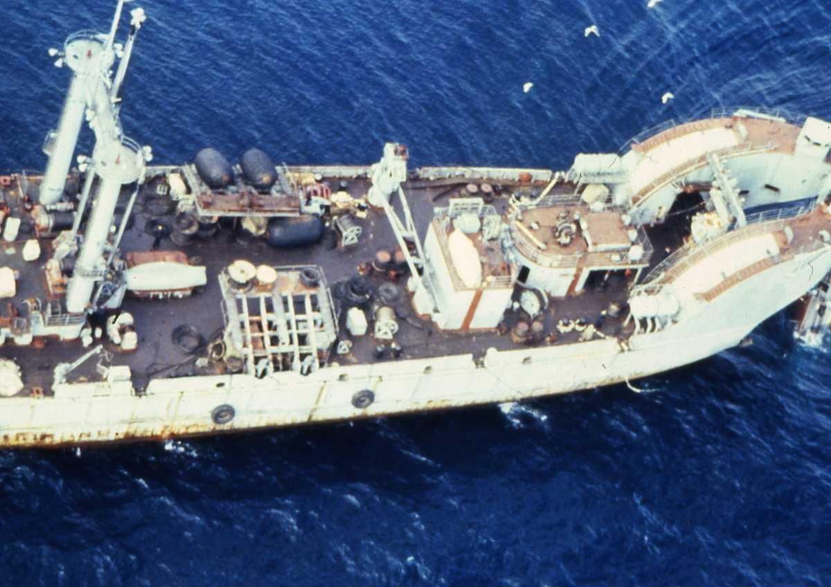 Russisk fartøy av Nepa - klassen som heter Karpaty.