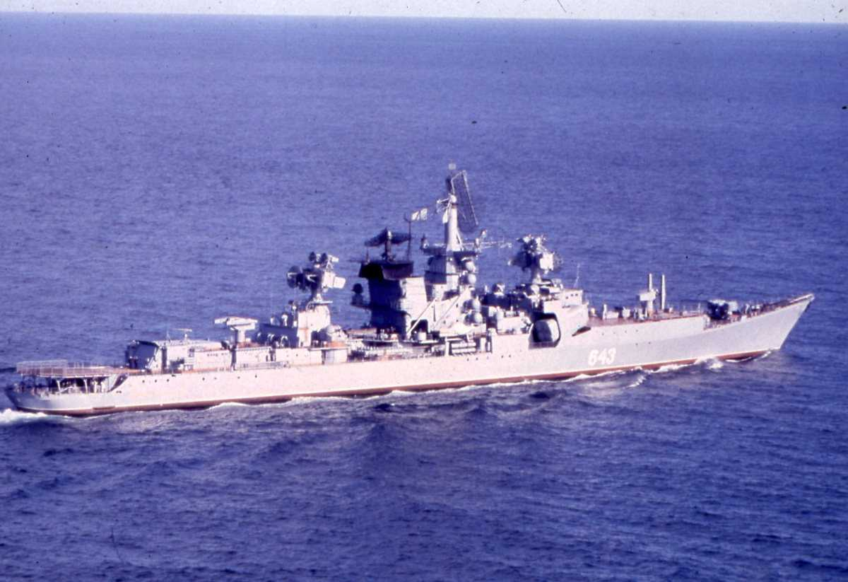 Russisk fartøy av Kresta II - klassen med nr. 643.