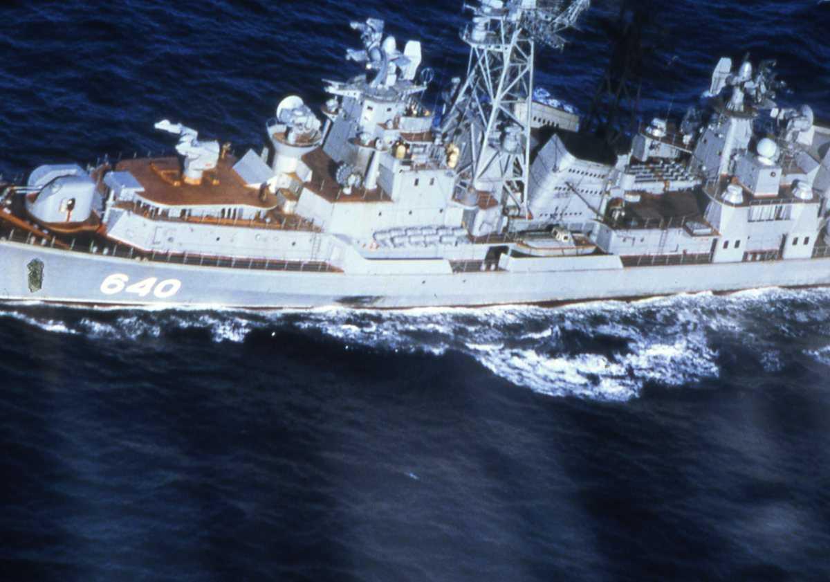 Russisk fartøy av Modifisert Kashin - klassen med nr. 640.