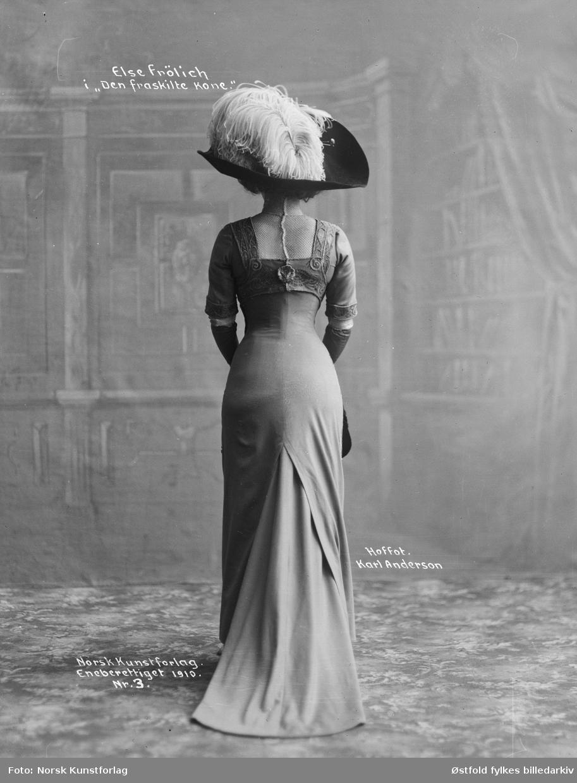 """Skuespiller Else Frölich i """"Den fraskilte kone"""", 1910."""