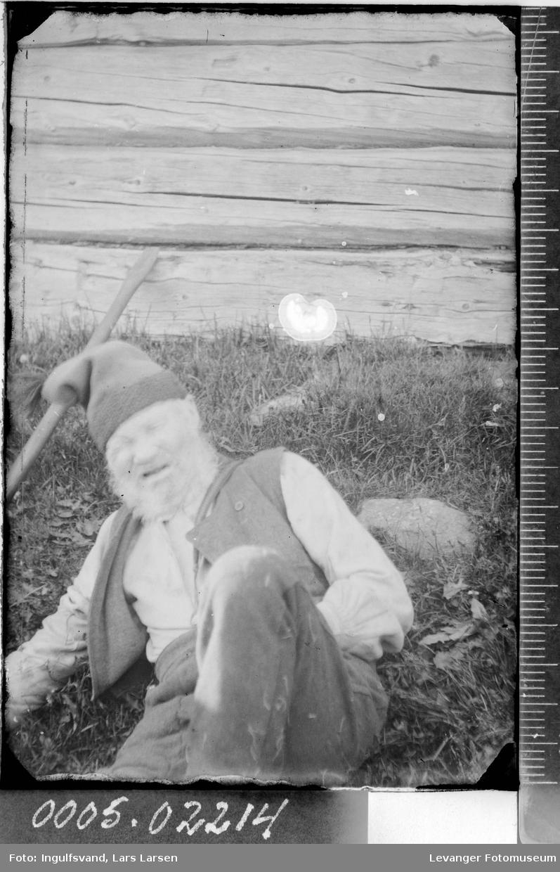 Portrett av en eldre mann.