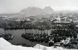 Svolvær havn. Postkort