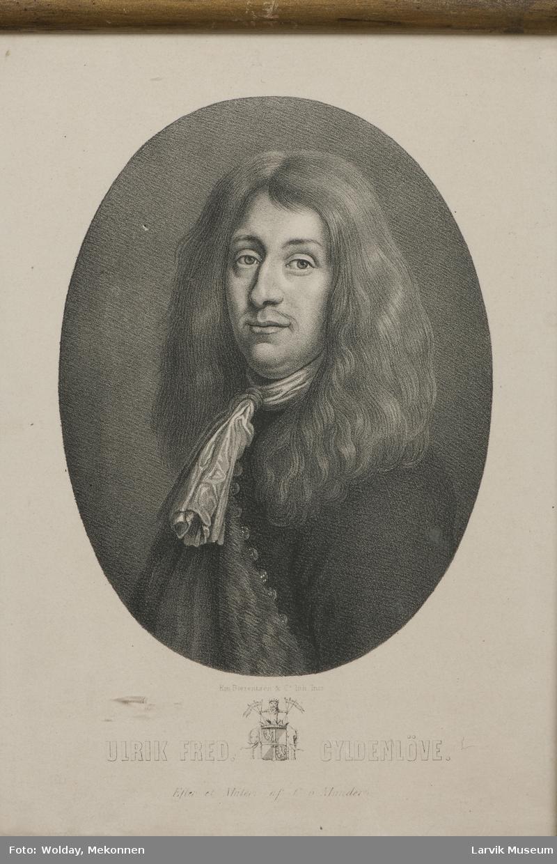 Ulrik Fred. Gyldenløve. 20.07.1638 - 17.04.1704 Etter et maleri av C. Mander