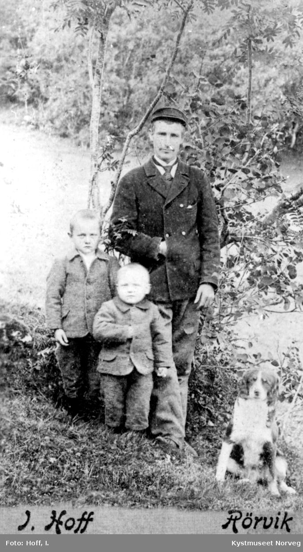 Arnfinn, Bjarne og Gustav Horseng, her avbildet på Horsenget