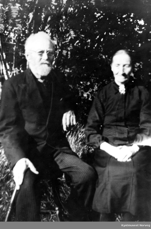 Albert Mikkelsen Vågø og kona Lina Edvardsdatter Vågø