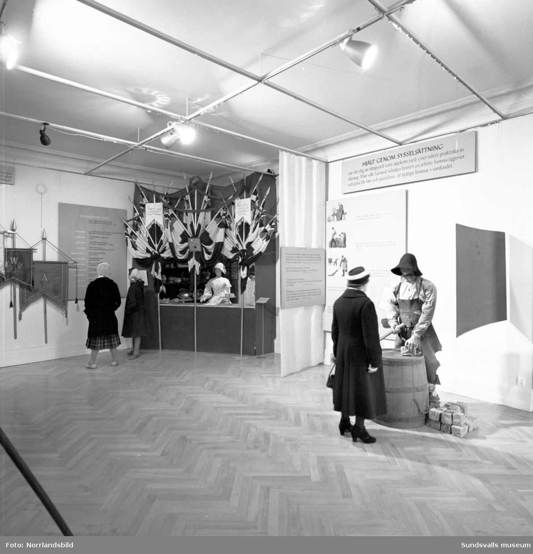 Fattigdomsutställning på Sundsvalls museum.
