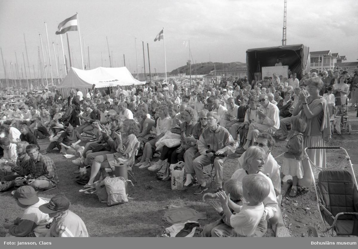 "Text till bilden:""Jazzfestivalen i Lysekil 1991-07-13""."