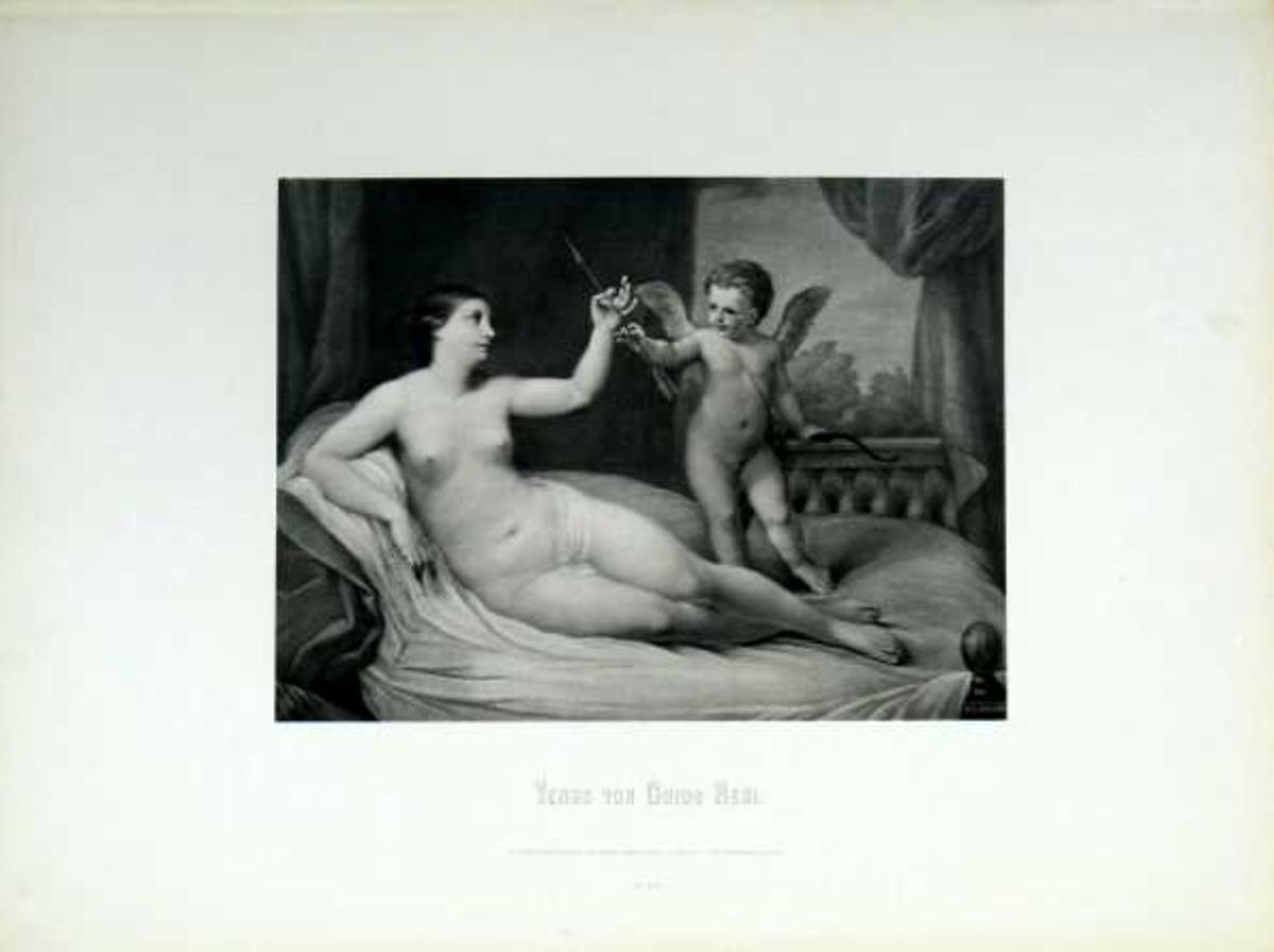 Hvilende Venus og amorin.