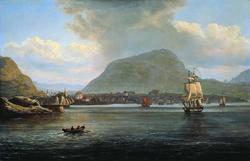 Bergen sett fra nordre led [Maleri]