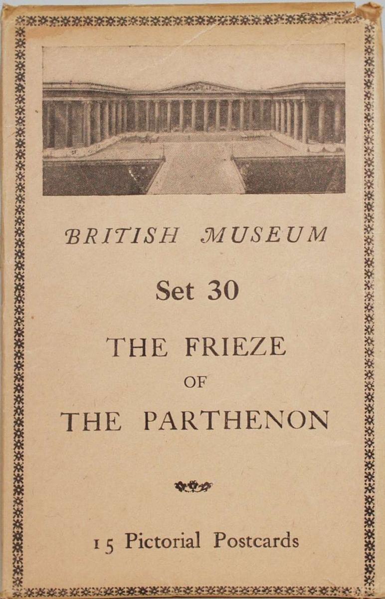 Alle 15 kortene viser motiver fra Partenonfrisen.