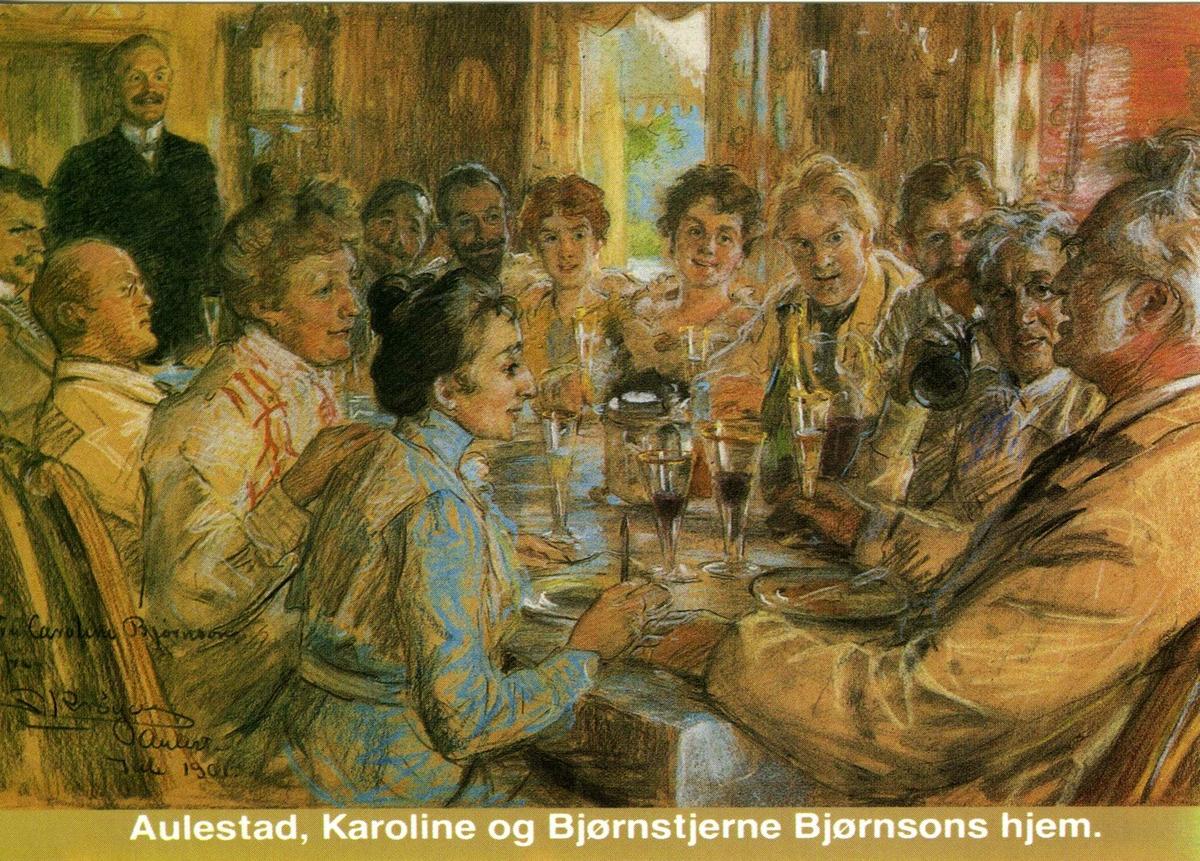 Pastell, Krøyer, spisestue, mat, drikke,