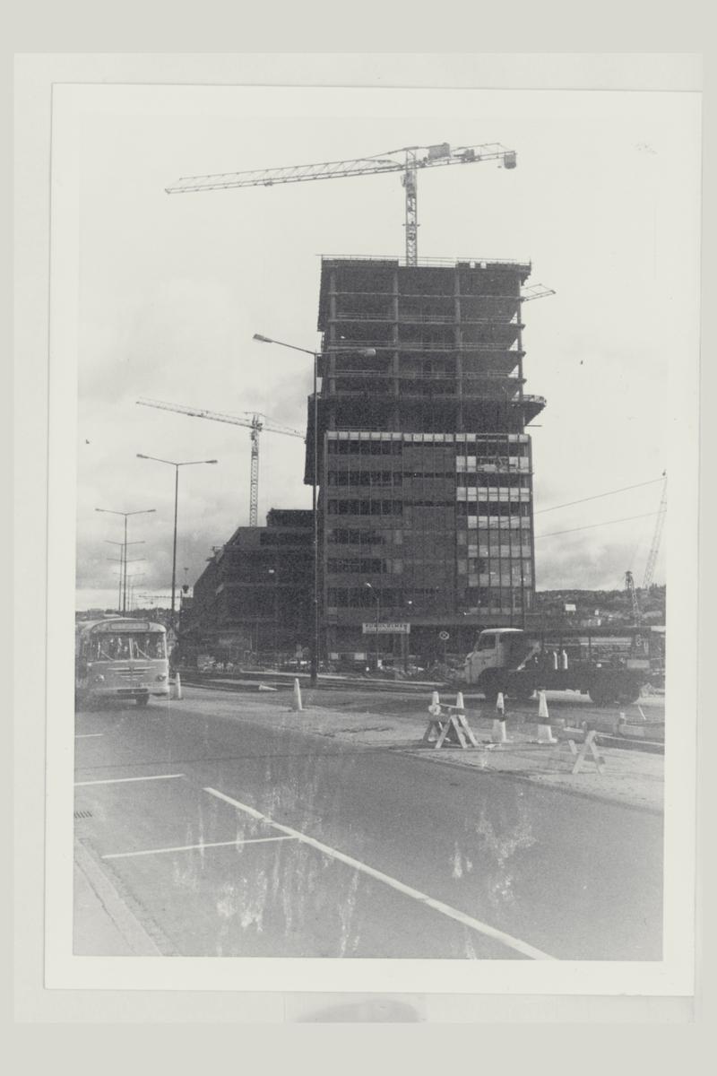 eksteriør, postterminal, Oslo, Postgiro, byggeprosess, jernbanepostkontor