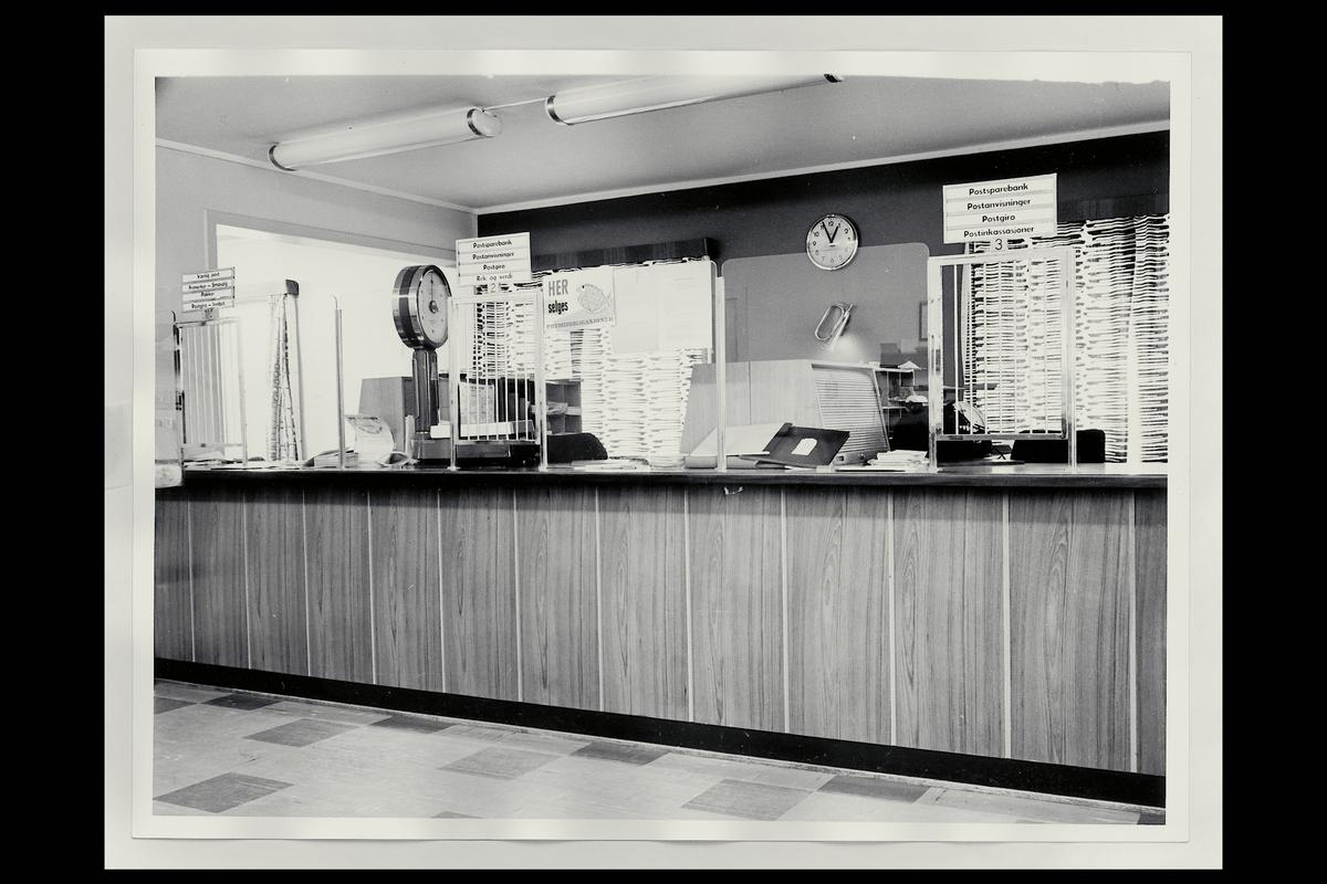 interiør, postkontor, 2050 Jessheim, publikumshall, vekt, posthorn