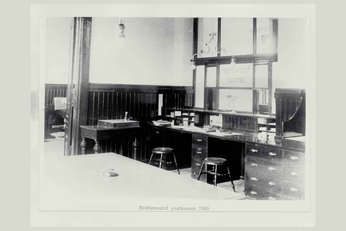 interiør, postkontor, 6500 Kristiansund N, ekspedisjon, vekt