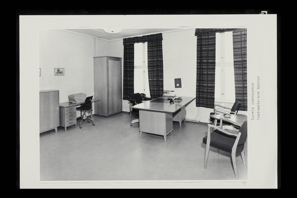 interiør, postkontor, 3250 Larvik, kontor