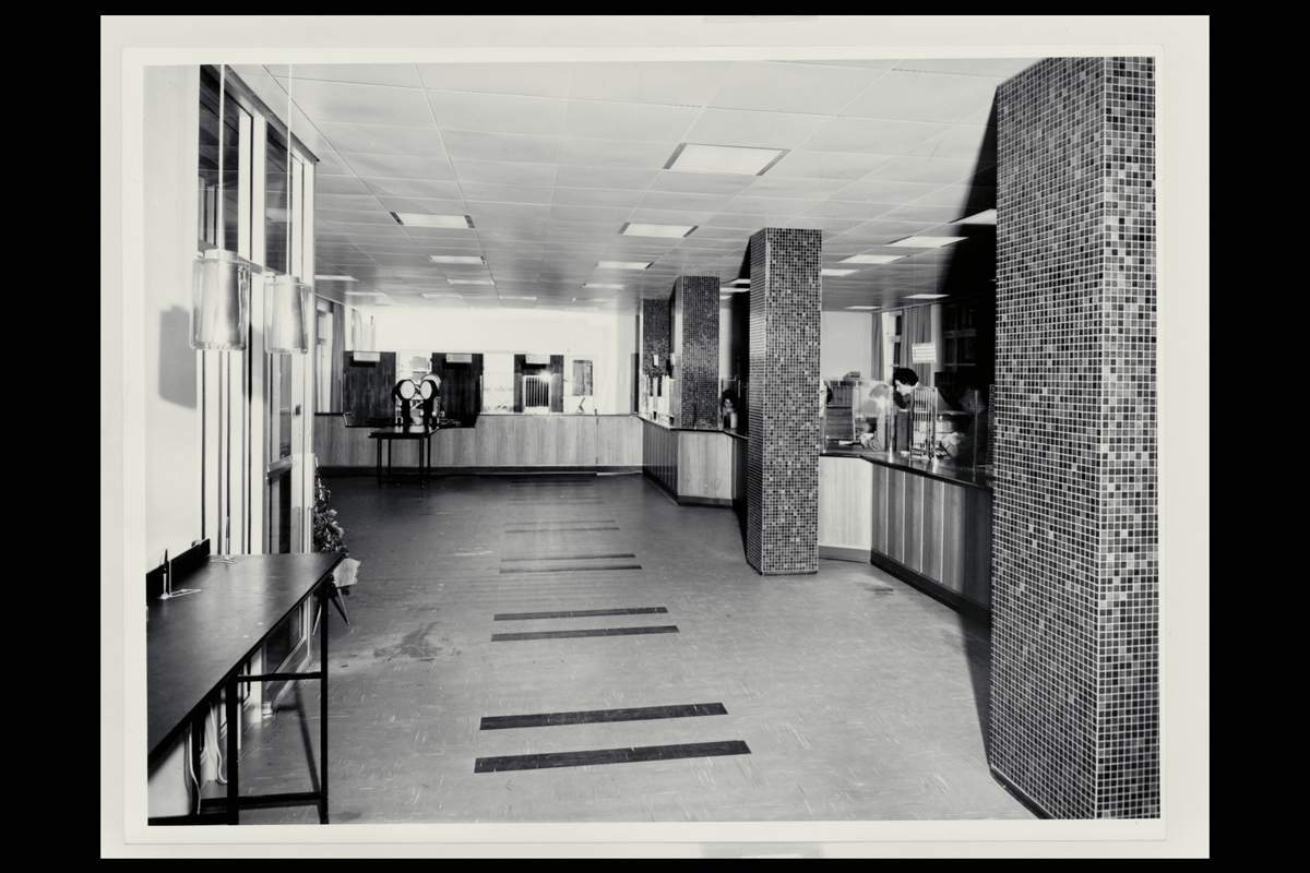 interiør, postkontor, 2300 Hamar, publikumshall