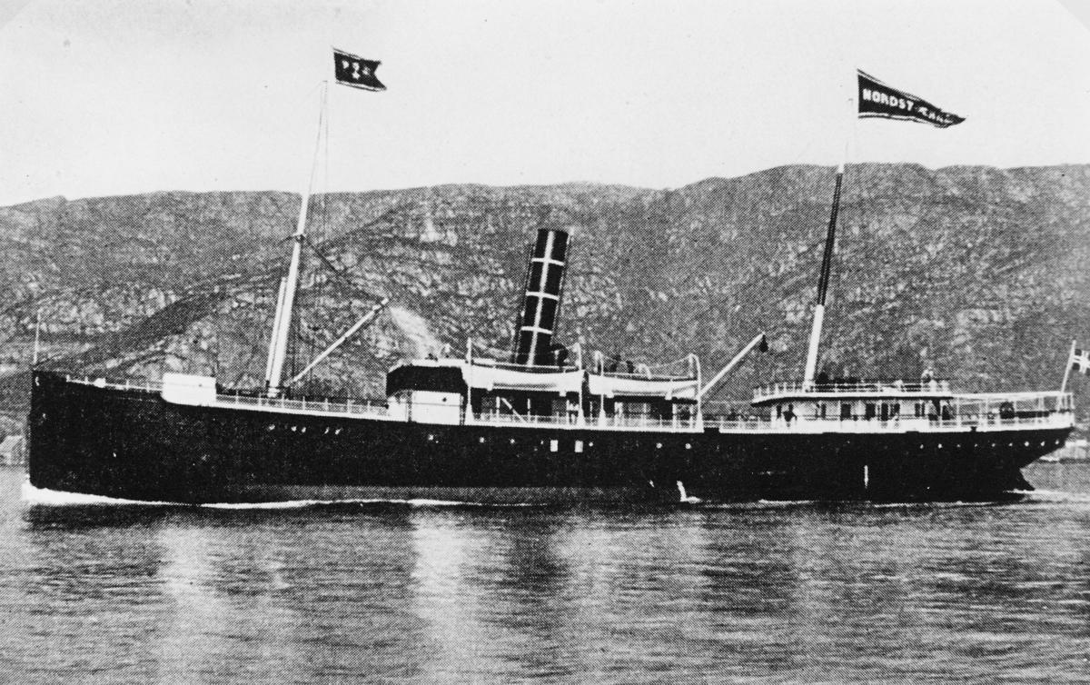 transport båt, eksteriør, D/S Nordstjernen