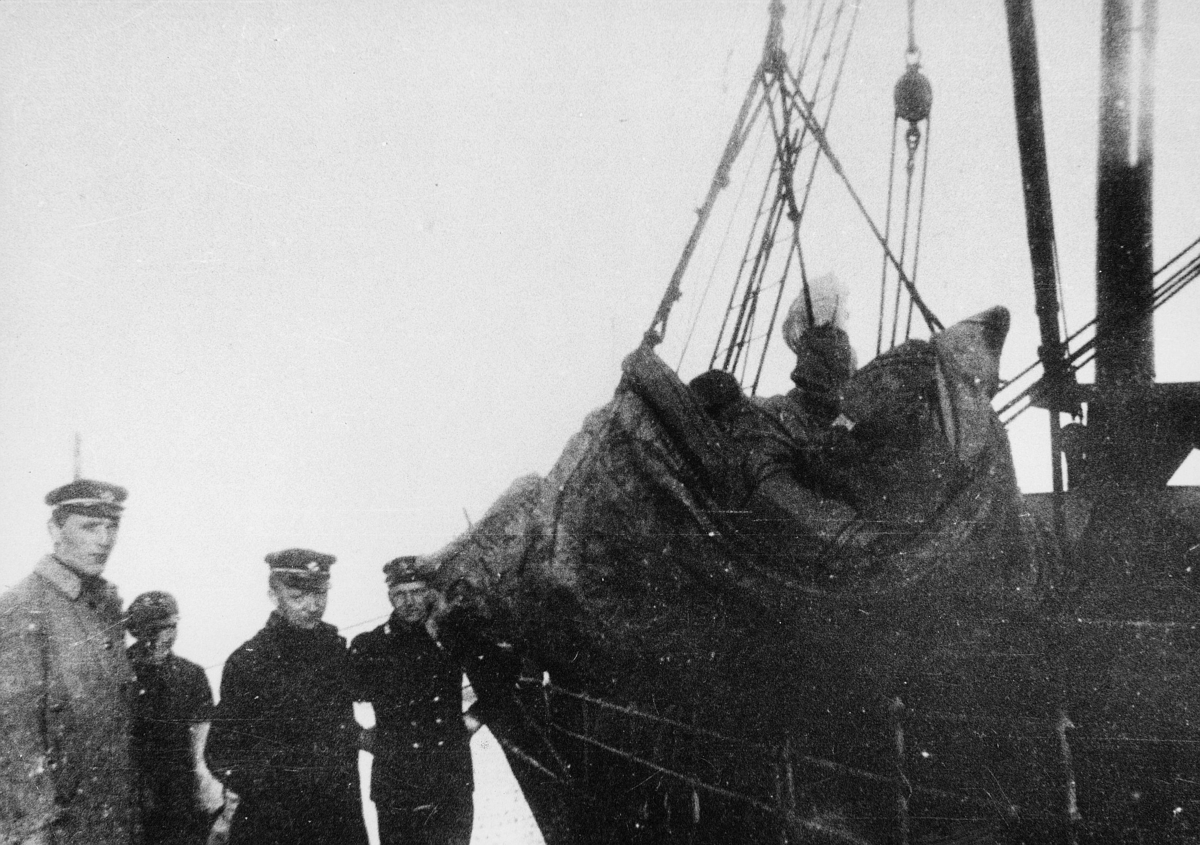 transport båt, eksteriør, Trondheim, innlasting, fire menn