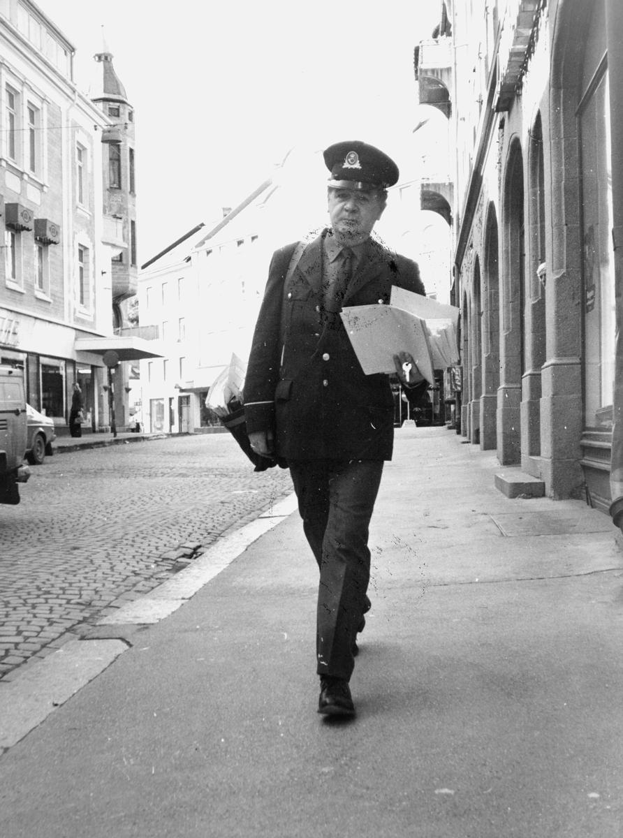 omdeling, Bergen, postbud