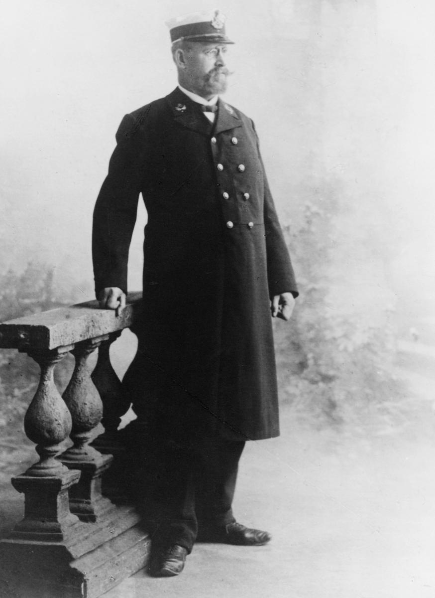 portrett, postmester, Johan Henrik Behn