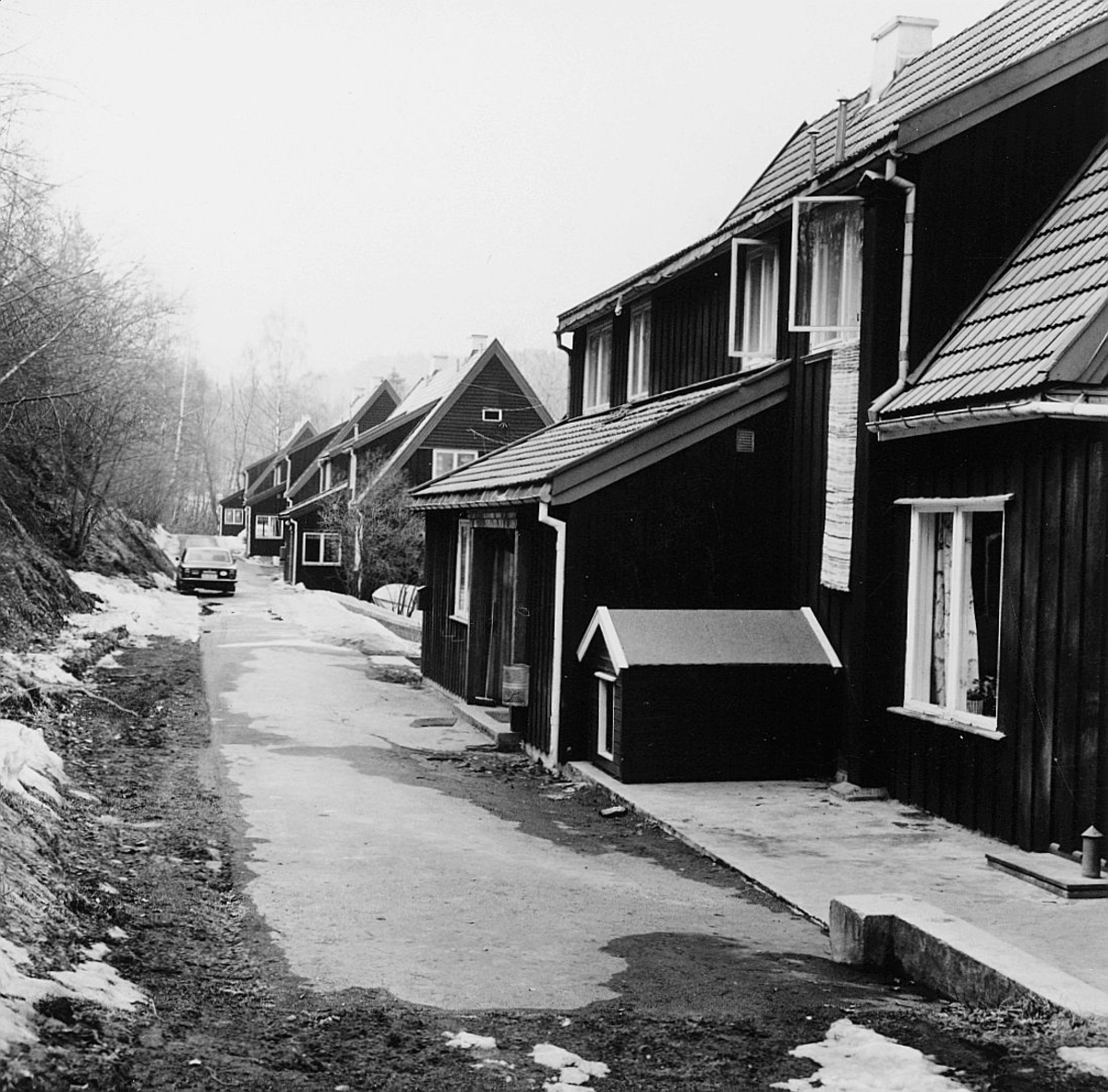 postskolen, Sjøstrand bad, april 1974, eksteriør